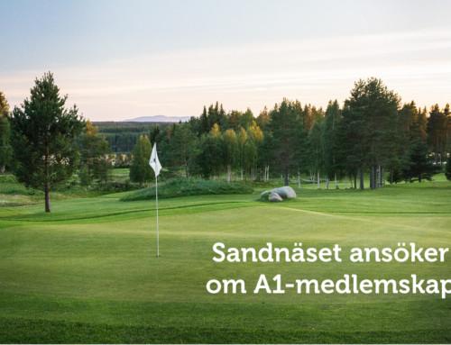 Sandnäset Golf ansöker om A1-medlemskap